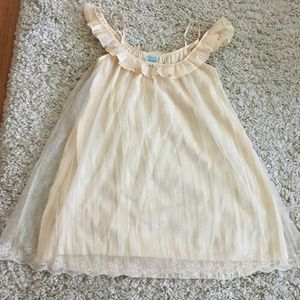 "FREE PEOPLE ""Picture Show"" ivory slipdress Small"